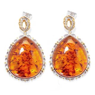 Michael Valitutti Amber Teardrop with Citrine Earrings