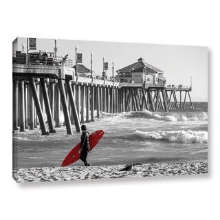 Scott Campbell 'Existential Surfing at Huntington Beach' Gallery Wrapped Canvas
