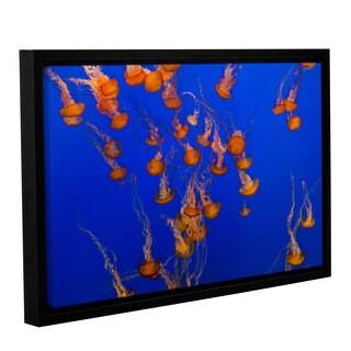 ArtWall Scott Campbells Black and White Bubbles 2 Piece Floater Framed Canvas Set 32 x 48
