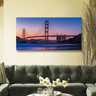 Scott Campbell 'Golden Gate Bridge Blues' Gallery Wrapped Canvas