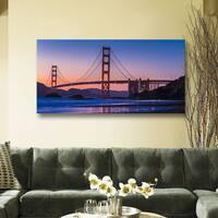 Scott Campbell 'Golden Gate Bridge Blues' Gallery Wrapped Canvas