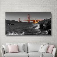 Scott Campbell 'Golden Gate Bridge Study 2 BW' Gallery Wrapped Canvas