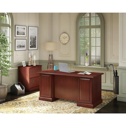 Bennington Executive Desk and File Cabinet from kathy ireland Home by Bush Furniture