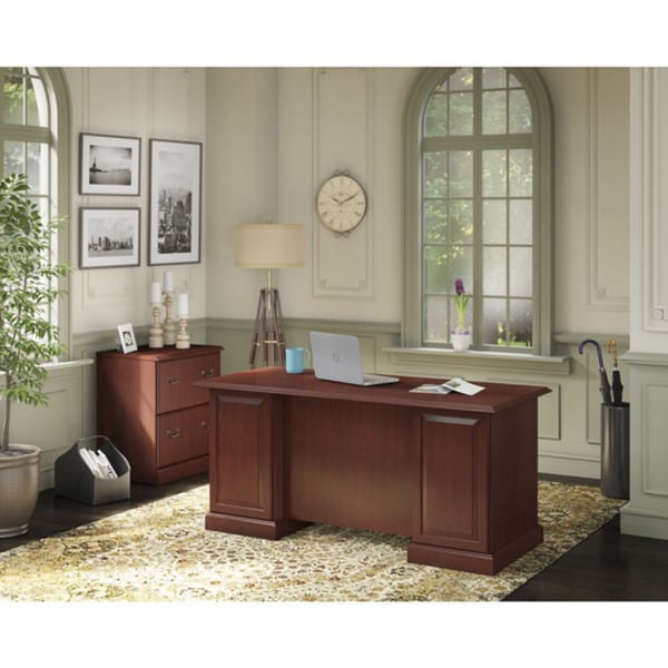 Kathy Ireland Office Bennington Manager X27 S Desk And Lateral File