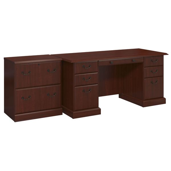 Kathy Ireland Office Bennington Manager S Desk And Lateral File