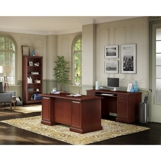 kathy ireland Office Bennington Manager's Desk, Credenza and Bookcase