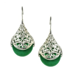 One-of-a-kind Dallas Prince Green Aagate Earrings