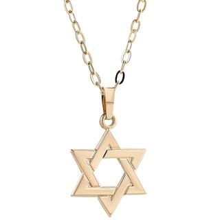 Pori 14K Yellow Gold Star of David Pendant Necklace
