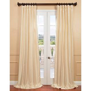 "EFF Winter Ivory Yarn Dyed Faux Dupioni Silk Curtain 96"" (As Is Item)"