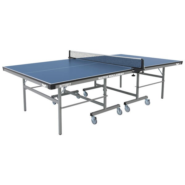 Butterfly Match 22 Rollaway Table Tennis Ping Pong Table with Net Set - Adjustable Feet - 3 Year Warranty