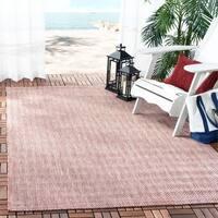 Safavieh Indoor/ Outdoor Courtyard Red/ Beige Rug - 2' 7 x 5'