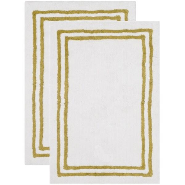 Safavieh Handmade Plush Master Bath Dark Green Cotton Rug (2' x 3')