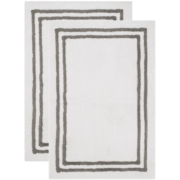 Safavieh Handmade Plush Master Bath Dark Grey Cotton Rug (2' x 3')