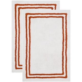 Safavieh Handmade Plush Master Bath Rust Cotton Rug (2' x 3')