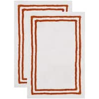Safavieh Handmade Plush Master Bath Rust Cotton Rug (2' x 3')