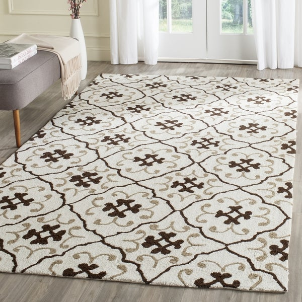 Safavieh Hand-Hooked Four Seasons Ivory / Grey Polyester Rug (3' 6 x 5' 6)