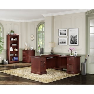 kathy ireland Office by Bush Business Furniture Bennington L Desk, Lateral File, and Bookcase