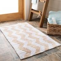 Safavieh Handmade Plush Master Bath Winter Wheat Cotton Rug (1' 9 x 2' 10)