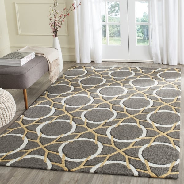 Safavieh Hand-Hooked Four Seasons Grey / Ivory Polyester Rug (3' 6 x 5' 6)