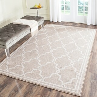 Safavieh Indoor/ Outdoor Amherst Wheat/ Beige Rug - 5' x 8'