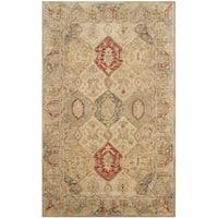 Safavieh Handmade Antiquity Beige/ Multi Wool Rug - 3' x 5'