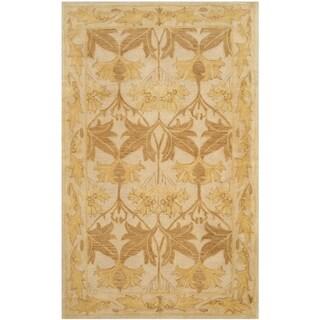 Safavieh Handmade Antiquity Beige/ Gold Wool Rug (3' x 5')
