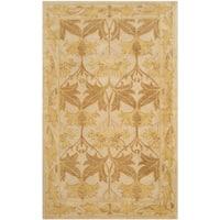 Safavieh Handmade Antiquity Beige/ Gold Wool Rug - 3' x 5'