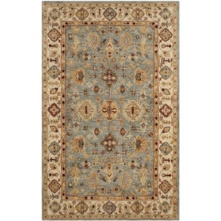 Safavieh Handmade Antiquity Blue/ Ivory Wool Rug (3' x 5')