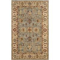 Safavieh Handmade Antiquity Blue/ Ivory Wool Rug - 3' x 5'