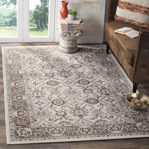 Safavieh Artisan Vintage Ivory/ Brown Distressed Area Rug - 3' x 5'