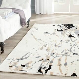Safavieh Handmade Bella Modern Abstract Ivory/ Grey Wool Rug (3' x 5')