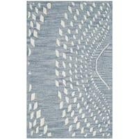 Safavieh Handmade Bella Blue/ Ivory Wool Rug - 3' x 5'