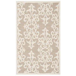 Safavieh Handmade Bella Sand/ Ivory Wool Rug (3' x 5')