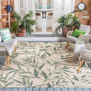 Safavieh Indoor/ Outdoor Courtyard Beige/ Terracotta Rug (5' 3 x 7' 7)
