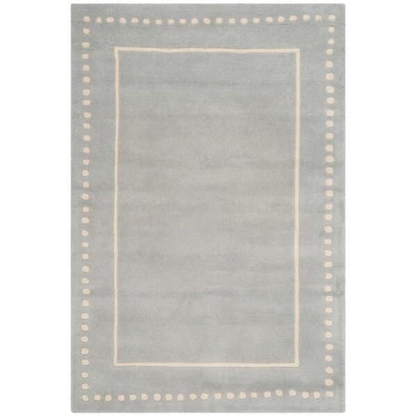 Safavieh Handmade Bella Light Blue/ Ivory Wool Rug (4' x 6') - 4' x 6'