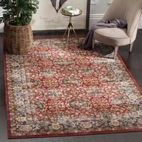 Safavieh Bijar Traditional Oriental Red/ Royal Blue Distressed Rug - 4' x 6'