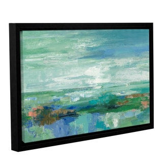 Silvia Vassileva 'Emerald Bay' Gallery Wrapped Floater-framed Canvas