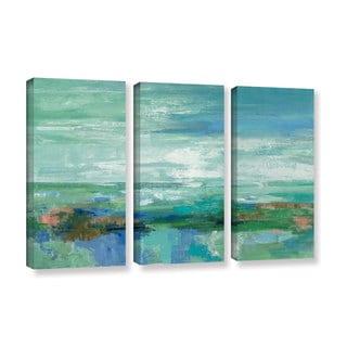 Silvia Vassileva 'Emerald Bay' 3-piece Gallery Wrapped Canvas Set