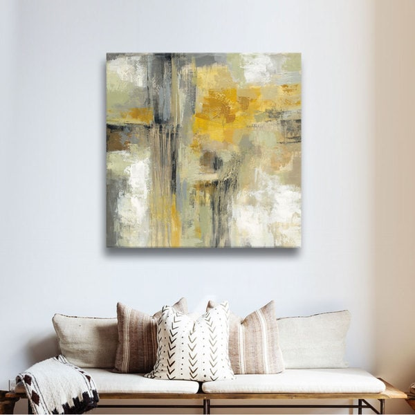 Silvia Vassileva 'Sun and Rain' Gallery Wrapped Canvas - YELLOW
