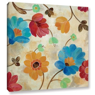 Silvia Vassileva 'Coral and Teal Garden I' Gallery Wrapped Canvas