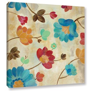 Silvia Vassileva 'Coral and Teal Garden II' Gallery Wrapped Canvas
