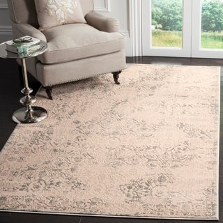 Safavieh Brilliance Vintage Cream/ Light Blue Distressed Rug (4' x 6')
