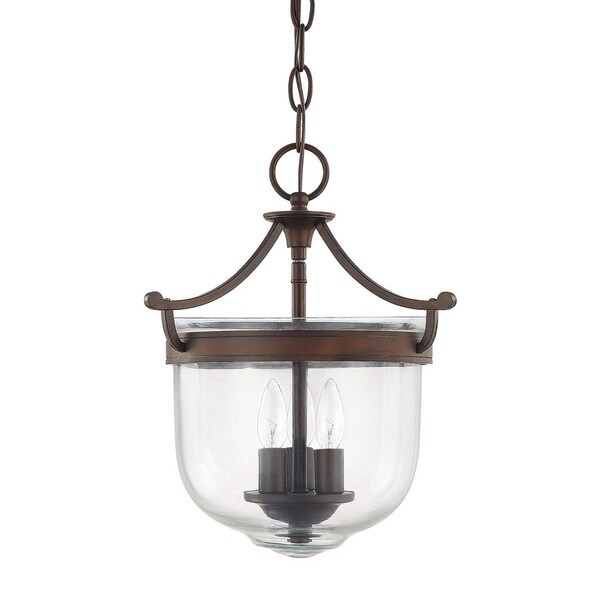 Capital lighting covington collection 3 light burnished bronze foyer pendant
