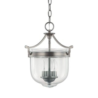 Capital Lighting Covington Collection 3-light Antique Nickel Foyer Pendant
