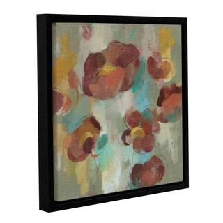Silvia Vassileva 'Marsala Blossoms III' Gallery Wrapped Floater-framed Canvas