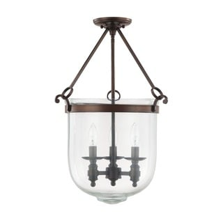 Capital Lighting Covington Collection 3-light Burnished Bronze Foyer Pendant