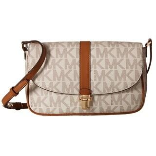 Michael Kors Charlton Signature Vanilla Large Crossbody Handbag