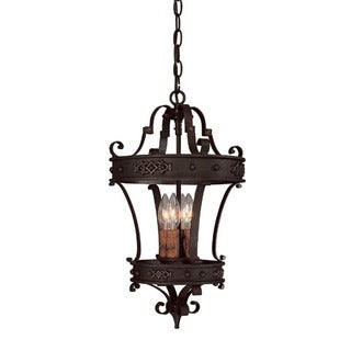 Capital Lighting River Crest Collection 4-light Rustic Iron Foyer Pendant