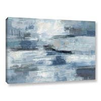 Havenside Home Silvia Vassileva 'Clear Water Indigo and Gray' Gallery Wrapped Canvas