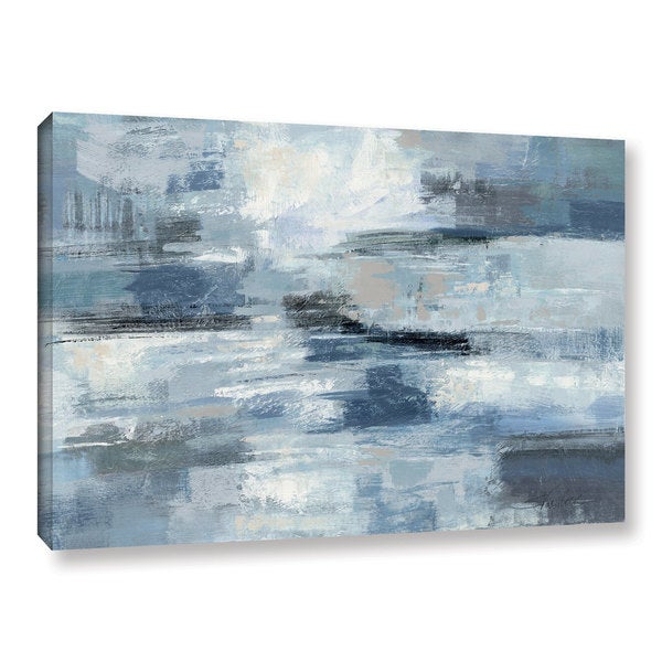 Strick & Bolton Silvia Vassileva 'Clear Water Indigo and Gray' Gallery Wrapped Canvas. Opens flyout.
